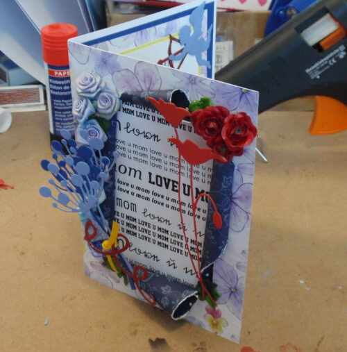 Kartenworkshop üppige Muttertagskarte
